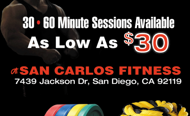 San Carlos & La Mesa Personal Training for As Low As $30